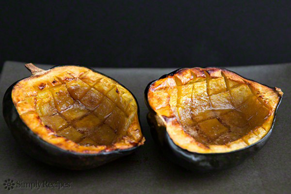 PHOTO COURTESY OF SIMPLY RECIPES Acorn squash bowls are a decorative and tasty addition to your Thanksgiving table.