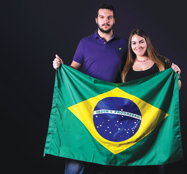 JONATHAN WENCES/THE ET CETERA Bruno and Isabella Sgobbi, international students from Brazil, started studying at Eastfield this semester.