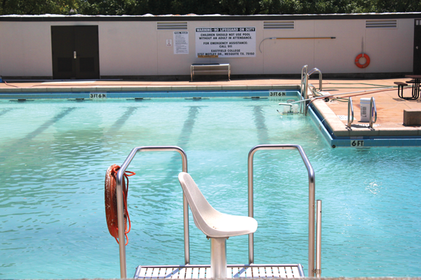 The Eastfield pool sits unused, awaiting more than $200,000 for new boiler and repairs to pipes. It should reopen in spring. Photo by jose Garcia