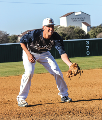 DAVID SANCHEZ/THE ET CETERA Conner Scruggs has a .917 fielding percentage and 18 putouts so far while at third base for the Harvesters this season. DAVID SANCHEZ/THE ET CETERA
