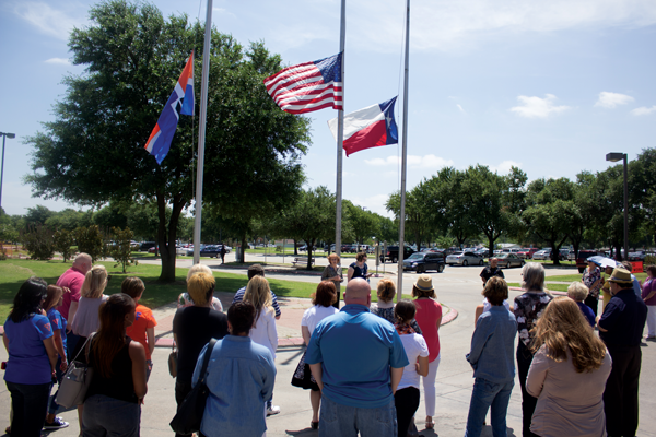 Eastfield holds moment of silence for fallen DPD officers