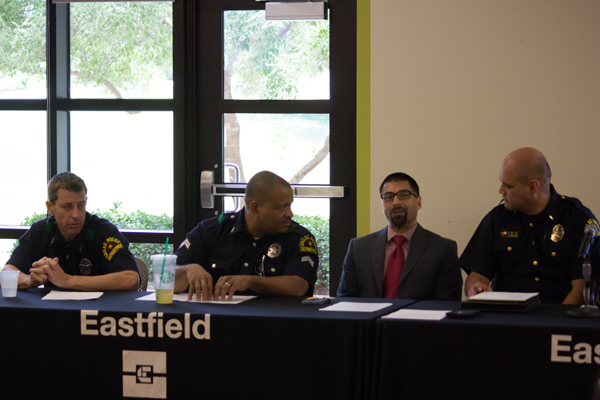 Jesus Ayala/The Et Cetera A panel of Dallas police, college administrators and Eastfield police address concerns about community-police relations.