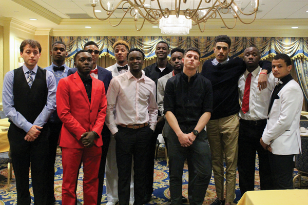 Brianna Harmon/The Et Cetera The 2016 men's basketball team attends a banquest in New York after qualifying for the nation championship last spring.