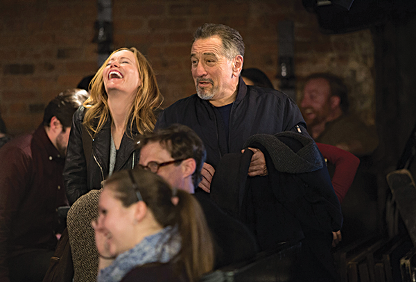 Robert De Niro plays a struggling comic while Leslie Mann plays his love interest. Courtesy of Sony Pictures Classics.