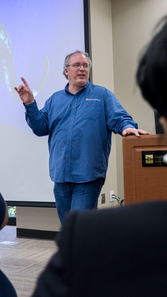 Former video game developer Gary Brubaker, who got his job at NASA, dishes out advice for getting a job in game development. Photo by Andrew Gonzales.