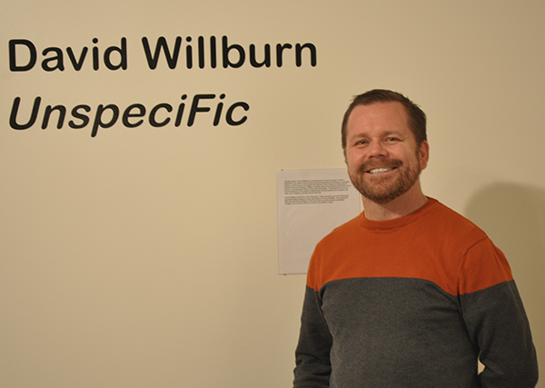 """""""Unspecific"""" is art professor David Willburn's first solo exhibit at the college. The exhibit closes friday."""
