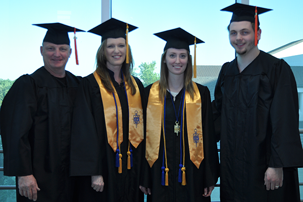 The Woodruffs — Jessica, Sheri and Ben — will join Caleb Streeter in receiving their diplomas on Saturday.