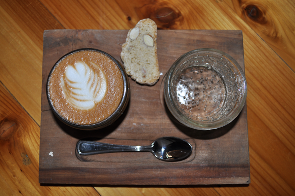 PHOTO BY COURTNEY SCHWING/THE ET CETERA Is your regular cup of Joe not making the cut any more? Order the Van Buren at Davis Street Espresso.