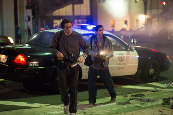 """COURTESY OF OPEN ROAD FILMS Jake Gyllenhaal (left) and Riz Ahmed in one of many night scenes in """"Nightcrawler."""""""