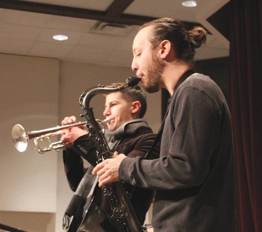 Evan Weiss and Ben Bohorquez infuse Eastfield with funky jazz. Photo By Braulio Tellez/The Et Cetera