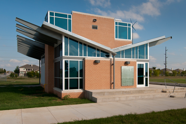 UNT's zero energy research lab uses solar, geothermal and wind for power. Photo Courtesy UNT.