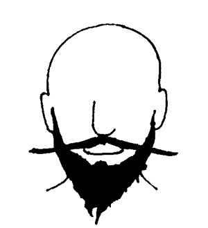 """The French Fork Also known as the Beatnik after the 60s cultural movement. """"A full beard that extends off the chin and is split down the middle into two segments."""" — dyers.org"""