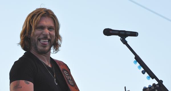 """Craig Wayne Boyd sings """"Gone to Texas"""" at the Real Texas Festival on April 25 in Mesquite. Photo by James Hartley/The Et Cetera."""