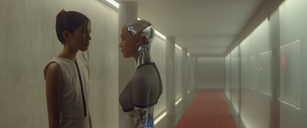 Alicia Vikander as two characters in ex Machina. Photo Courtesy A24 Productions.