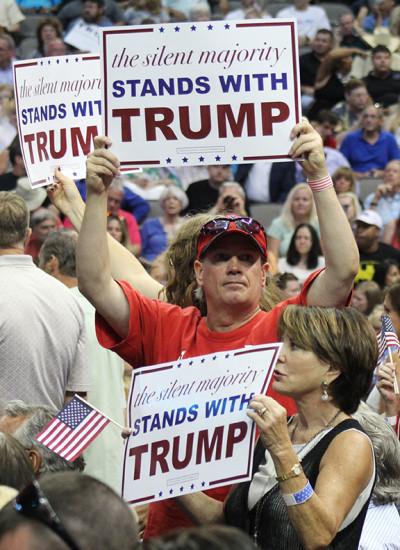 Trump supporters pack Dallas arena