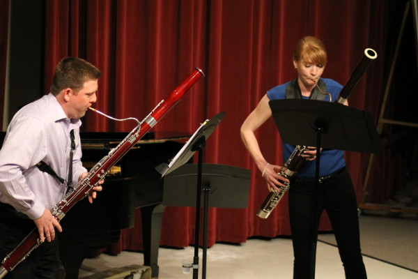 Bassoon couple plays together
