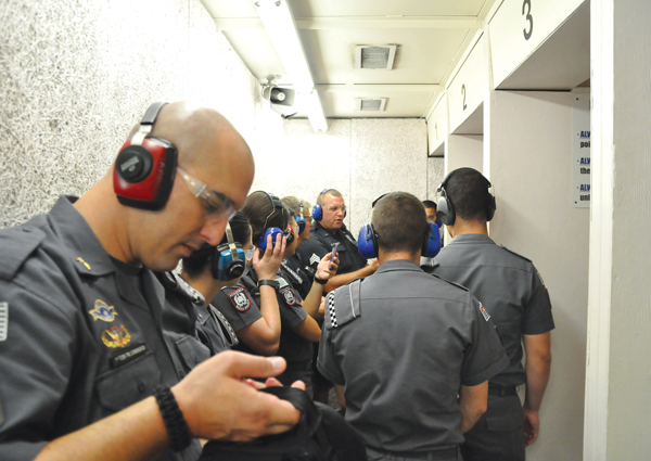 Brazilian police train at Eastfield