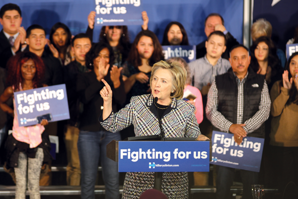 Clinton holds rally at Mountain View College