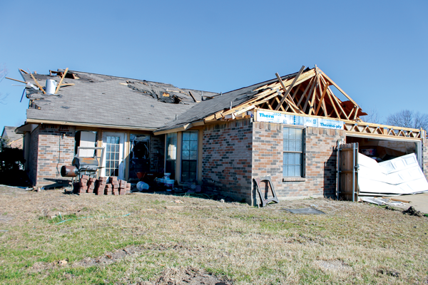 Ford's house in Garland. Ford said his house is scheduled to be demolished and built back from scratch. Photo by Alejandra Rosas/The Et Cetera.