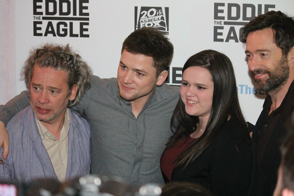 """The cast and crew of """"Eddie the Eagle"""" were in Dallas for the red carpet premiere Feb. 18. PHOTO BY DAVID SANCES/THE ET CETERA."""