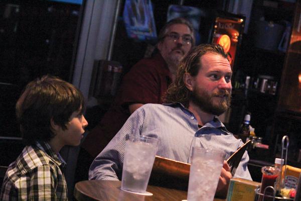 Matt Leg and his son Phoenix, 8. GOP. Photo by David Sanchez/The Et Cetera.