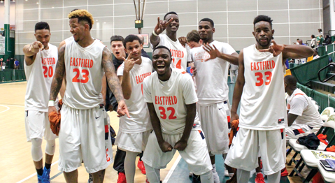 Brianna Harmon/The Et Cetera The 2016 men's basketball team at the national championship in New York last spring.
