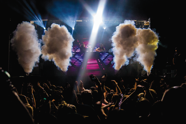 The bad Krewella performs at a rave in Dallas earlier this month. David Sanchez/The Et Cetera