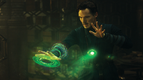 Benedict Cumberbatch transforms from sidelined surgeon to superhero in the newest Marvel adaptation, Doctor Strange. Courtesy of Walt Disney Studios