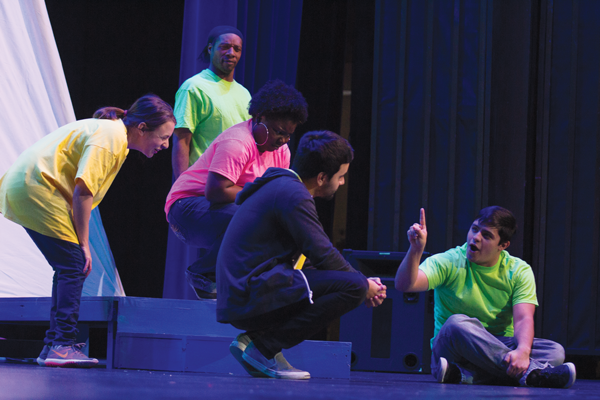 The Harvester Theatre Company rehearses 'A Yellow Boat.' Photo by David Sanchez/The Et Cetera