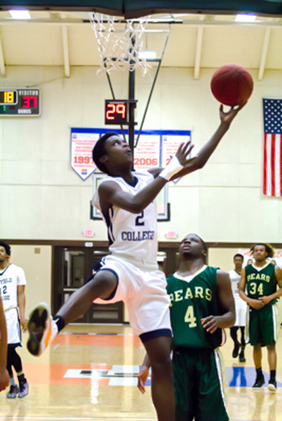 Andre Watts goes for a layup, securing a 94-88 win against Brookhaven. Photo by Yesenia Alvarado.