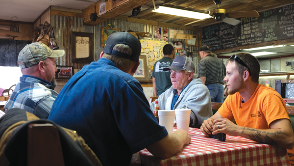 Diners sit at Shorty's BBQ, a family-owned and operated barbecue joint in Sunnyvale. Photo Jesus Ayala.