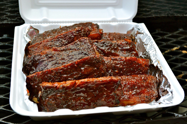 Williams' team's award-winning ribs are ready for judging. Photo courtesy of Oslynn Williams.