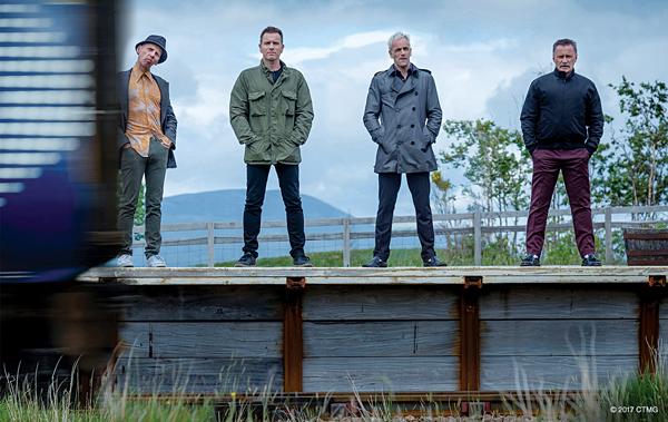 "From left, Ewen Bremner, Ewan McGregor, Jonny Lee Miller and Robert Carlyle reunite for ""T2 Trainspotting."" Photo courtesy Sony Pictures."