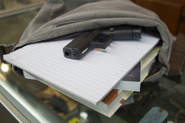 Guns are allowed on all public college and university campuses in Texas. Photo by Yesenia Alvarado/The Et Cetera