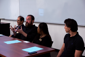 Faculty and staff debated various topics in regards to free speech on college campuses on Sept. 21. Photo by Dan Luna/The Et Cetera