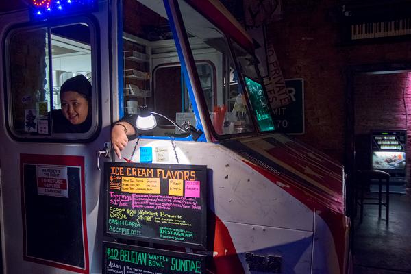 Meriel Bautista runs her gourmet dessert restaurant out of a half of a food truck in the back of a Deep Ellum bar. Photo by Yesenia Alvarado