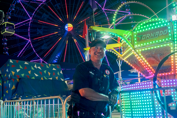 Mitchell Walker has been the chief electrician for five years. He is only the second chief since the State Fair's opening in 1886. David Silva/The Et Cetera
