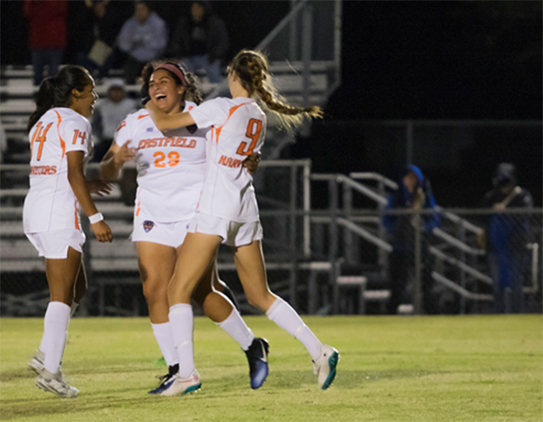 Harvester soccer team rallies to defeat North Lake in first round of conference tournament
