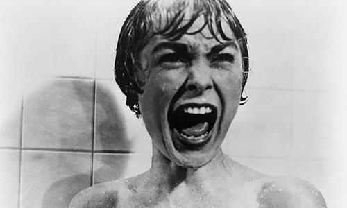 """Janet Leigh, playing Marion Crane, in the iconic shower murder scene in """"Psycho."""" Courtesy of Paramount Pictures"""