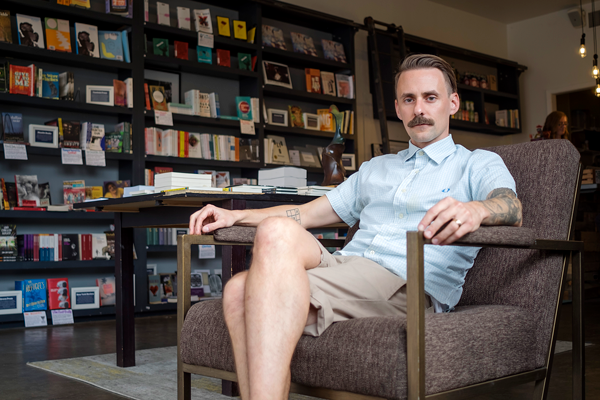 Will Evans, the founder of Deep Vellum Publishing, is also the co-founder of the Dallas production company Cinestate. Photo by Jesus Ayala/The Et Cetera