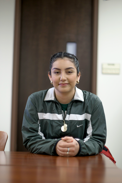 The future is uncertain for early college high school student and biology major Gladys Castillo. With DACA threatened, Castillo lives knowing that she could be deported should the protections be revoked. Photo by Yesenia Alvarado/The Et Cetera