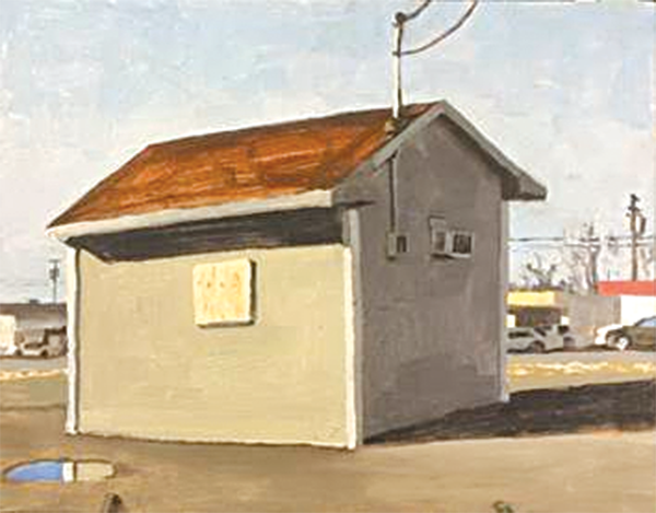 """""""Casa View Shed,"""" an oil on panel painting by Peter Ligon, is one of the pieces of art that will be featured in the faculty show. Peter Ligon painted it as a scene reflecting the local area. Courtesy of Iris Bechtol."""