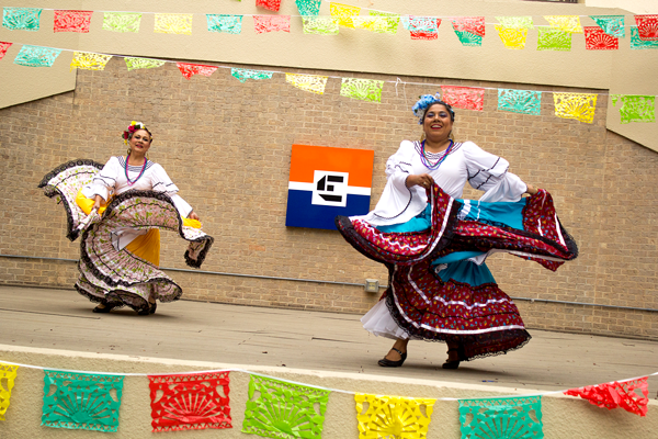 Performers dance ballet folklorico for Eastfields Frida Fun Friday on Sept. 14. Photo by Jonathan Diaz/ The Et Cetera