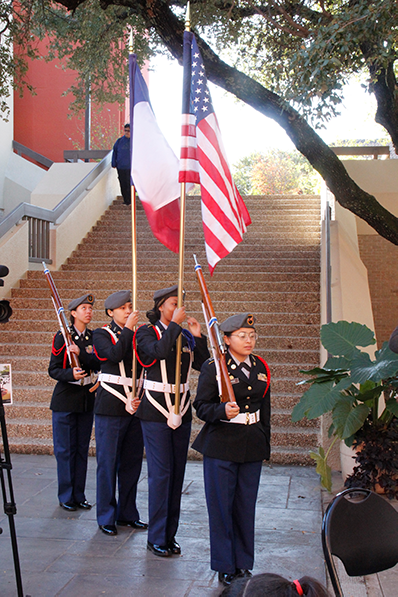 Eastfield honored veterans on Arbor Day. ROTC marched in a parade while trees were planted on Nov. 1.