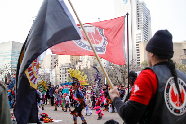 American Indian Heritage Day in Texas was amongst the organizations supporting the Dallas Womens March on Jan. 20. Photo by Yesenia Alvarado/The Et Cetera