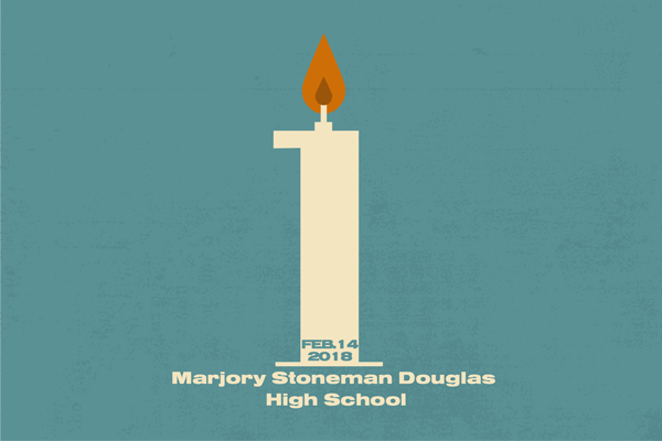 One year after the deadliest high school shooting in American history, survivor David Hogg is working to make sure the nation hasnt forgotten. Graphic by Anthony Lazon/The Et Cetera