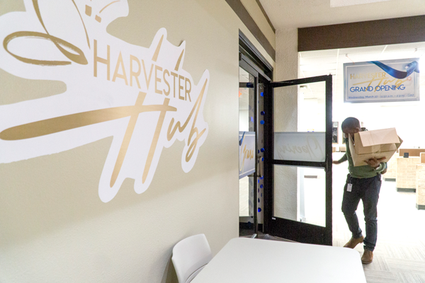 The new Harvester Hub will open March 27 in