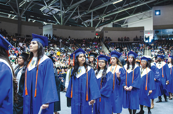 W.W. High School graduated 54 percent of students from the 2018 cohort in two years, showing better success than non-early college high school students. Courtesy of Liliana Rodriguez