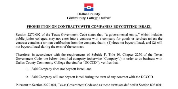 +The+contract+the+Dallas+County+Community+College+District+requires%2C+by+Texas+law%2C+contractors+to+sign.+