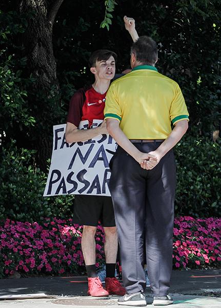 Brazilian+President+Jair+Bolsonaro+protest+in+Dallas.